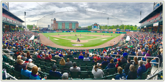 Fish Eye view of Fisher Cats Stadium