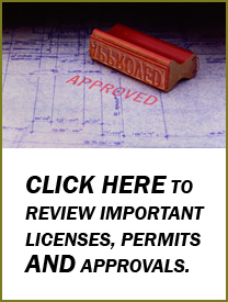 Licenses, Permits and Approvals
